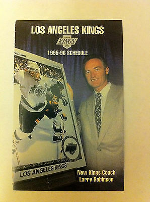 LOS ANGELES KINGS 1995-96 SCHEDULE, NHL, HOCKEY, GRETZKY,KURRI,HRUDEY,BLAKE,NR