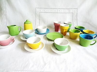 21 peice  CHILDREN'S DISHES for IMAGINATIVE PLAY DOLLS EXCELLENT