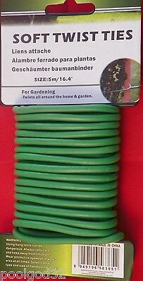Home and Garden Soft Twist Tie 16.4 Ft - HD Padded plant support tie wire HYDRO