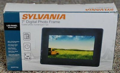 Sylvania Digital Photo Frame 7 Inch Frame Black 2999 Picclick