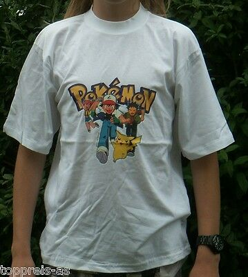 POKEMON T-SHIRT NINTENDO PIKACHU 100% BAUMWOLLE NEU 158 164 170 176 Cotton
