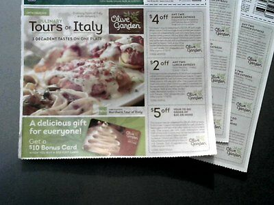 3 Olive Garden flyers/ 9 deals total  .exp. Jan. 10, 2015.. good  all  locations