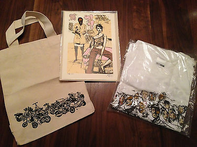 DAVID CHOE Signed + Numbered SLOW JAMS Print +Tote + T-Shirt RARE 155 / 200 Vice