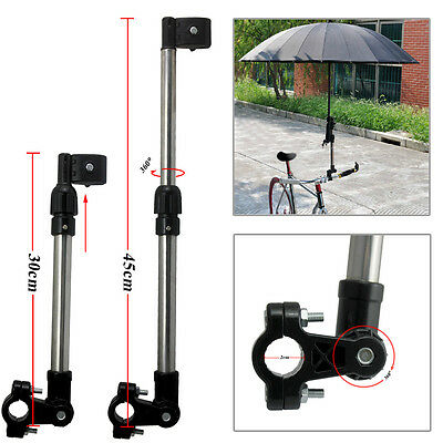 Wheelchair Bike Bicycle Stroller Chair Umbrella Bracket Bar Holder Stand