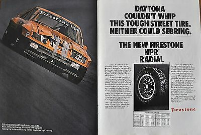 1981 Firestone McLaren Mustang at Daytona 24 hour original 2 pg print ad