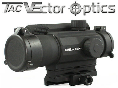 Vector Optics 1x35 Multi Reticle Red Dot Scope Mil-spec Matte Finish AA Battery