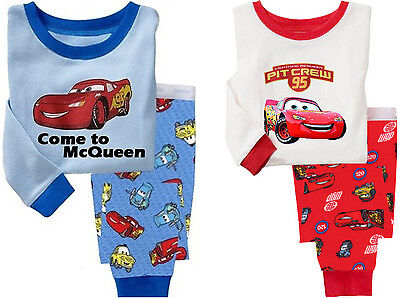 McQueen Cars Cotton Sleepwear Pajama Sets for Baby Toddler Kids Boys Size 1T~6T