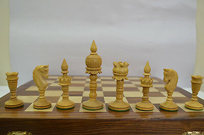 Hand carved wooden chess set pieces Dome Ebonywood Indian Artistic CHESSNCRAFTS