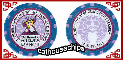 SHERI'S RANCH collectible Brothel chip, Pahrump, NV  LEGAL CAT HOUSE