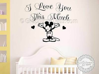 Mickey Mouse Nursery Wall Sticker Quote, Boys Girls Bedroom Playroom Wall Decal