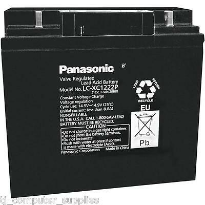 Panasonic LC-XC1222P 12v 22Ah battery for mobility scooters, golf carts, medical