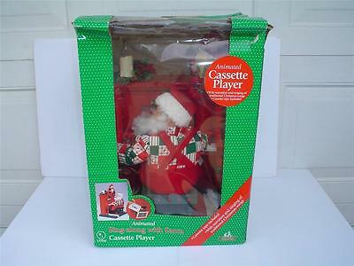 HOLIDAY CREATIONS 1995 Animated SING ALONG WITH SANTA Cassette Player with Box