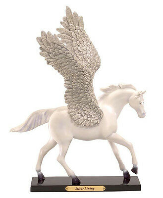Trail of Painted Ponies - Silver Lining Pegasus Pony Horse 1E-6061