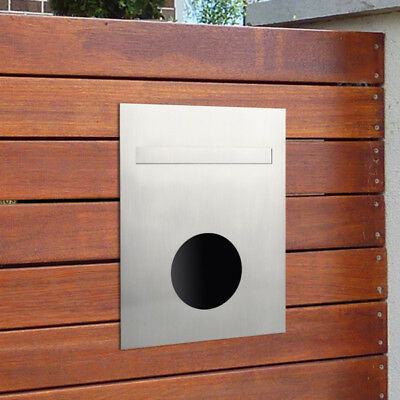 Milkcan Large A4 Stainless Fence Timber Wall Mount Letterbox Mail Paper Holder