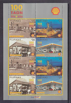Philippines Stamps 2014 MNH Shell Oil 100 Years sheetlet