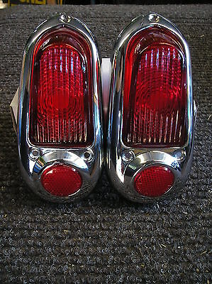 NEW COMPLETE REPLACEMENT PAIR OF TAIL LIGHT ASSEMBLIES FOR 49 50 CHEVROLET !