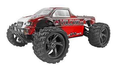 RTR - REDCAT RACING VOLCANO-18 1:18 SCALE 4X4 BRUSHED RC MONSTER TRUCK (RED)