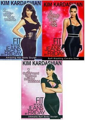 Kim Kardashian Fit In Your Jeans By Friday Bulk Lot X3 Vol 1-3 - New Dvd Fitness