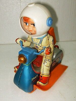 SPACE SCOOTER Vintage 1960s Tin Litho Battery Operated // MASUDAYA
