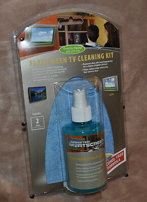 Monster FlatScreen Clean TV Cleaning Kit w/ Cloth Clean LCD & Plasma TV Display
