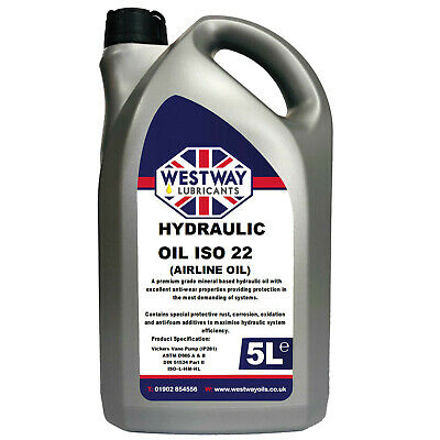 Hydraulic Tail Lift Oil ISO 22 VG22 5L 5 Litres
