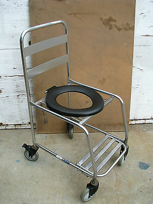 Commode Portable Wheeled Toilet Frame Chair