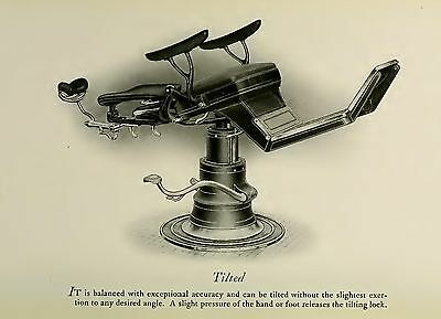 THE TILTED RITTER CHAIR DENTAL DENTIST ANTIQUE 13X19 PRINT