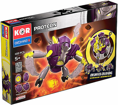 Geomag KOR PROTEON VULKRAM 103 PCS Magnetic Construction Creation Made In Swiss