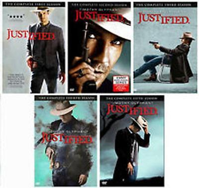Justified: Seasons 1- 5  1,2,3,4,5 (DVD) ~~ FREE PRIORITY SHIPPING
