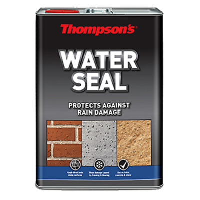 Ronseal Thompsons Water Seal Waterseal Protection 5L Litre Brick Concreate Stone