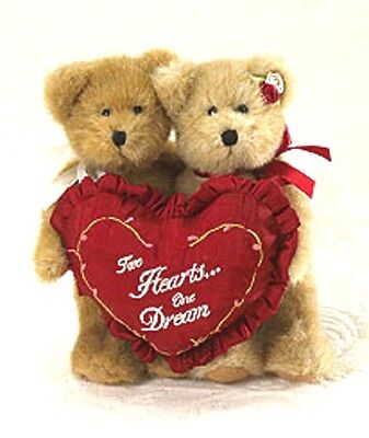 BOYDS VALENTINE CHARLIE & MOLLIE SWEETHEART BEARS w/PILLOW TWO HEARTS ONE DREAM