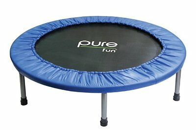 PURE FUN MINI TRAMPOLINE 40 IN. WITH HARDENED STEEL LEGS DETACH FOR EASY STORAGE