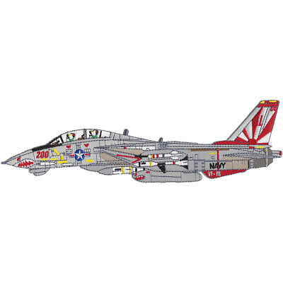 F-14B Tomcat VF-111 Detailed Sideview Patch Sundowners