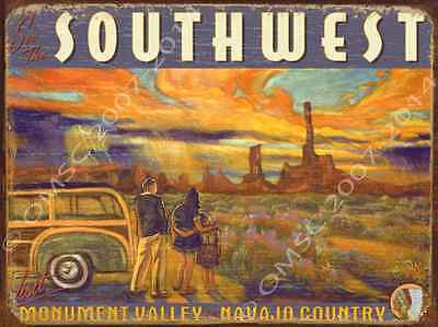 Southwest Metal Sign, Rustic American Wilderness,Vintage Country Decor