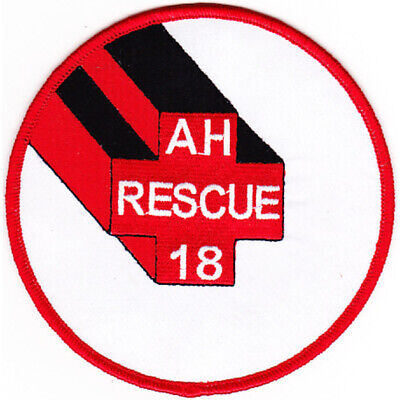 AH-18 USS Rescue Auxiliary Hospital Ship Patch
