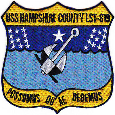 LST-879 USS Hampshire County Patch