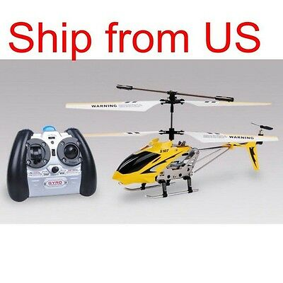Genuine Syma S107 Remote controlled 3CH RC Helicopter with Gyroscope Yellow