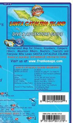 Santa Catalina Island California Adventure Dive Guide Map Waterproof Franko Maps