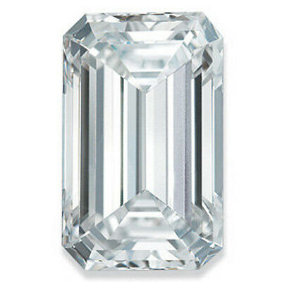 Loose Forever Brilliant Emerald Cut Moissanite with Certificate of Authenticity