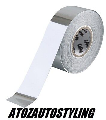 """Chrome 20mm Wide Pin Stripe Styling chrome foil tape 10mts long """"NEW"""""""