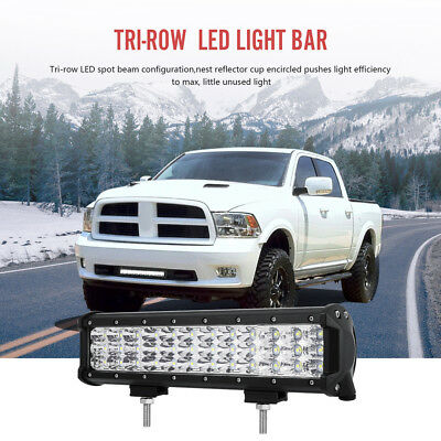 """12""""Inch 168W LED Light Bar SPOT&FLOOD Combo Offroad Driving Lamp SUV 4X4WD UTE"""