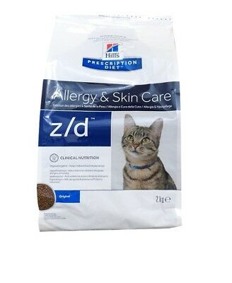 2kg Hills Prescription z/d Allergy & Skin Care Feline, Diet, Katzenfutter