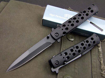 Hight Quality Folding Knife Black Camping Survival Clip Saber Tool Hot Gift c11