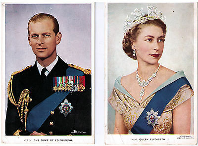 British Royalty Postcard Assortment Family William Queen Elizabeth Mother Diana