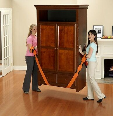 """Orange straps Forearm Forklift lifting and moving furniture 3"""" New free shipping"""