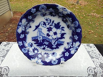 Flow Blue Bowl Royal Staffordshire Pottery Pekin I 42 Pattern 1840 - 1900s