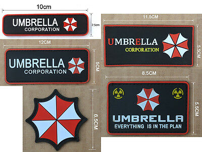 1PC Resident Evil Umbrella Corporation PVC 3D Velcro Patch Badge New 5 Sizes