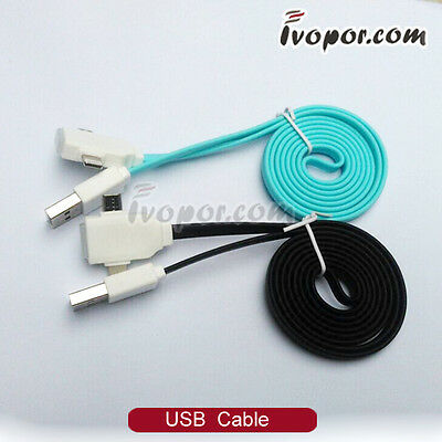 2in1 USB Data Sync Charging Charger Cable For i Pad 4 Mini Air i Pod Nano 7th