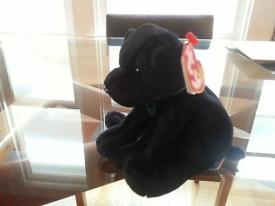 'Luke' the Black Dog Ty Beanie Baby - MINT - RETIRED