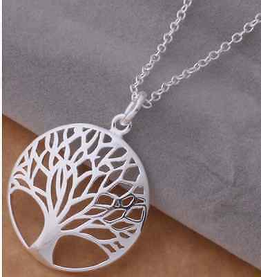 Tree of Life Pendant Necklace 925 Silver Plated